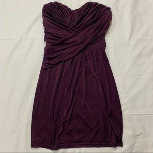 Express strapless purple mini dress small